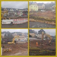 Rechts - Sicht nach Abriss von B101 / Links - Sicht nach Abriss von der Uferstraße aus